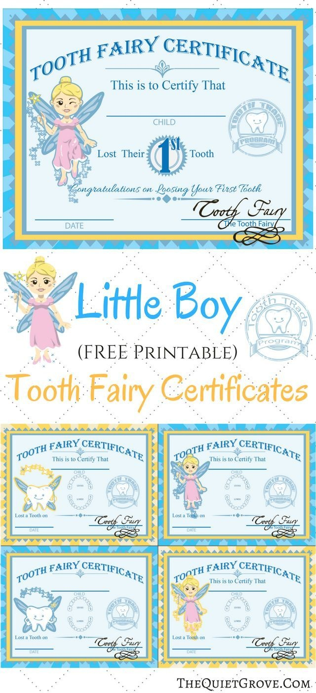 Free Printable Tooth Fairy Certificates | Fabnfree // Freebie Group - Free Printable First Lost Tooth Certificate