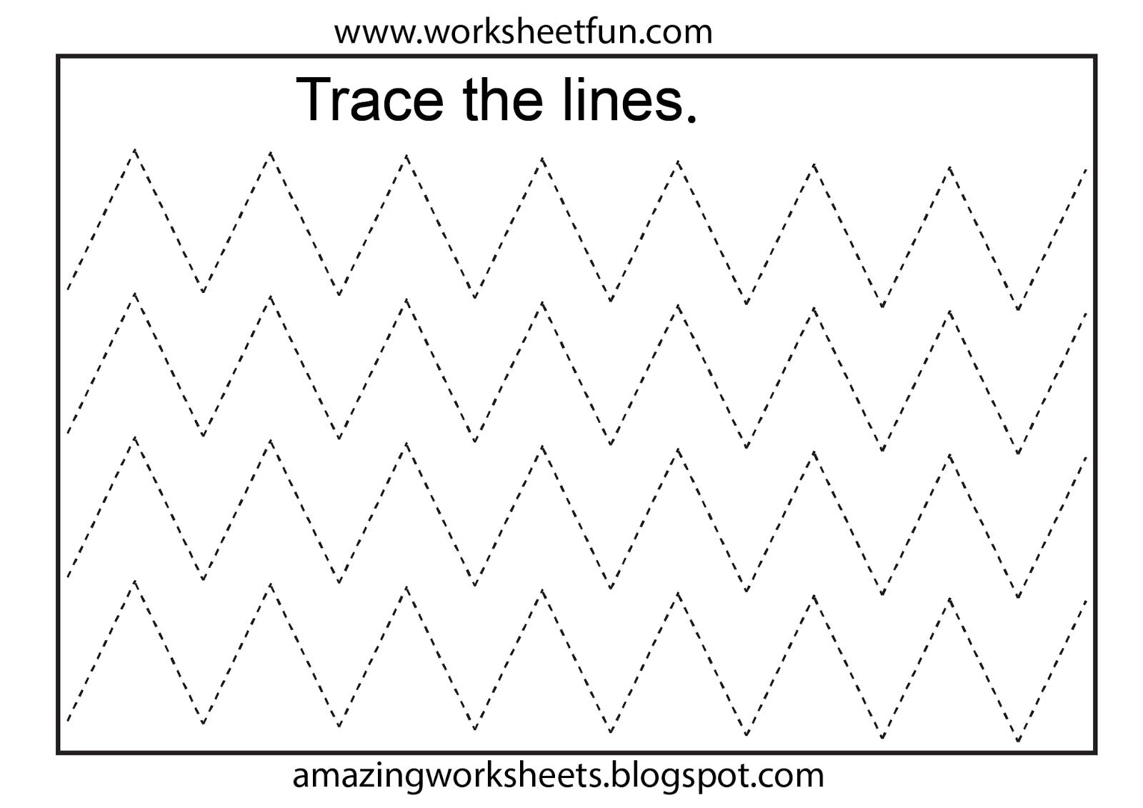 Free Printable Tracing Worksheets Preschool | Preschool Worksheets - Free Printable Tracing Worksheets