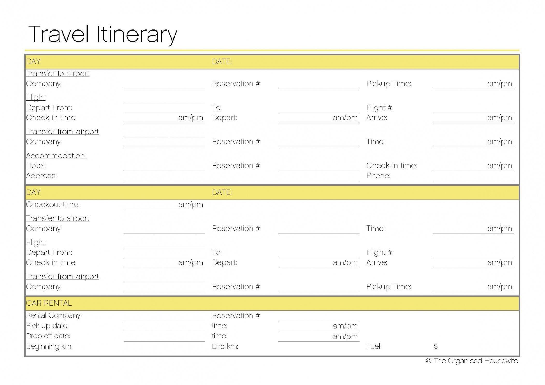 Free Printable Travel Itinerary Itineraries Etc Travel Travel Agency - Free Printable Itinerary