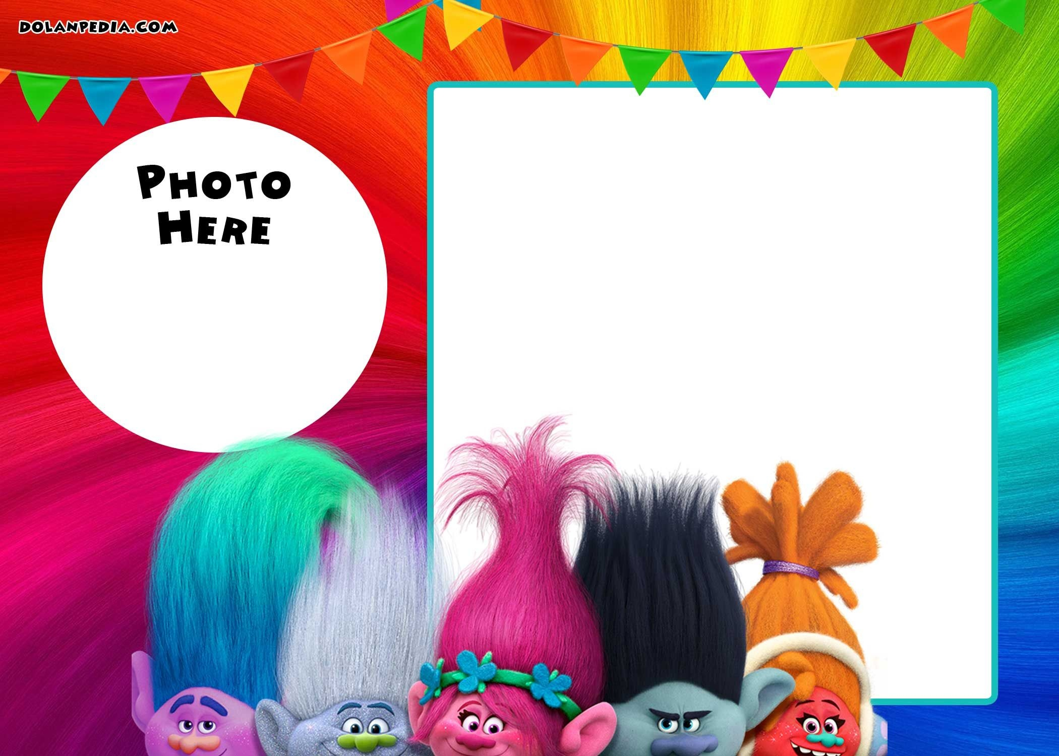 Free Printable Trolls Invitation Template   Trolls   Free Birthday - Free Printable Trolls
