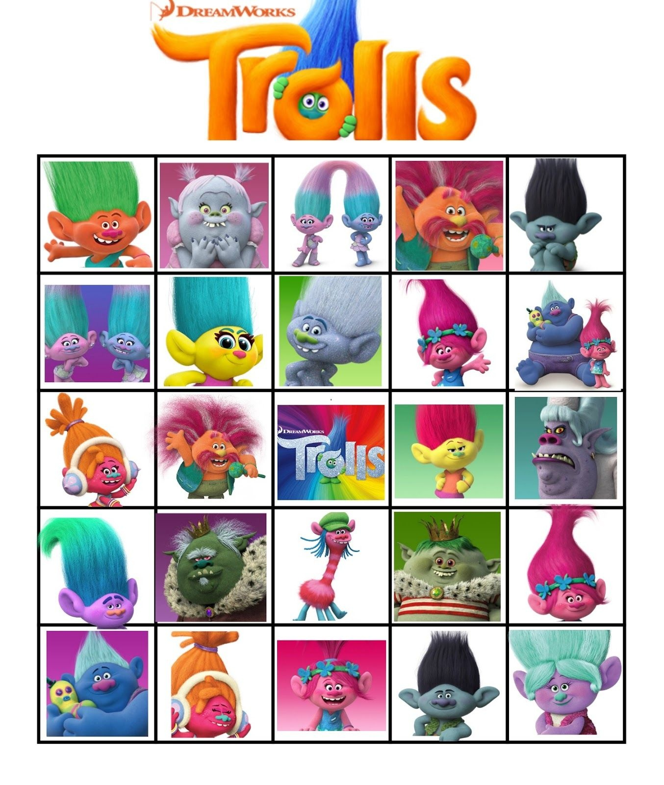 Free Printable Trolls Movie Bingo   Violet's 5Th Birthday   Troll - Free Printable Trolls
