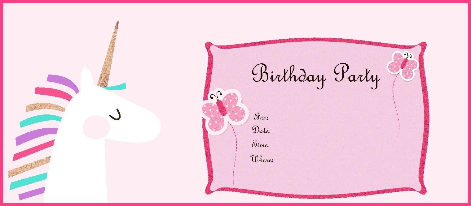 Free Printable Unicorn Birthday Party Invitation | Unicorn In 2019 - Birthday Party Invitations Online Free Printable