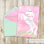 Free Printable Unicorn Invitations | Freebies | Unicorn Invitations   Free Printable Unicorn Birthday Invitations