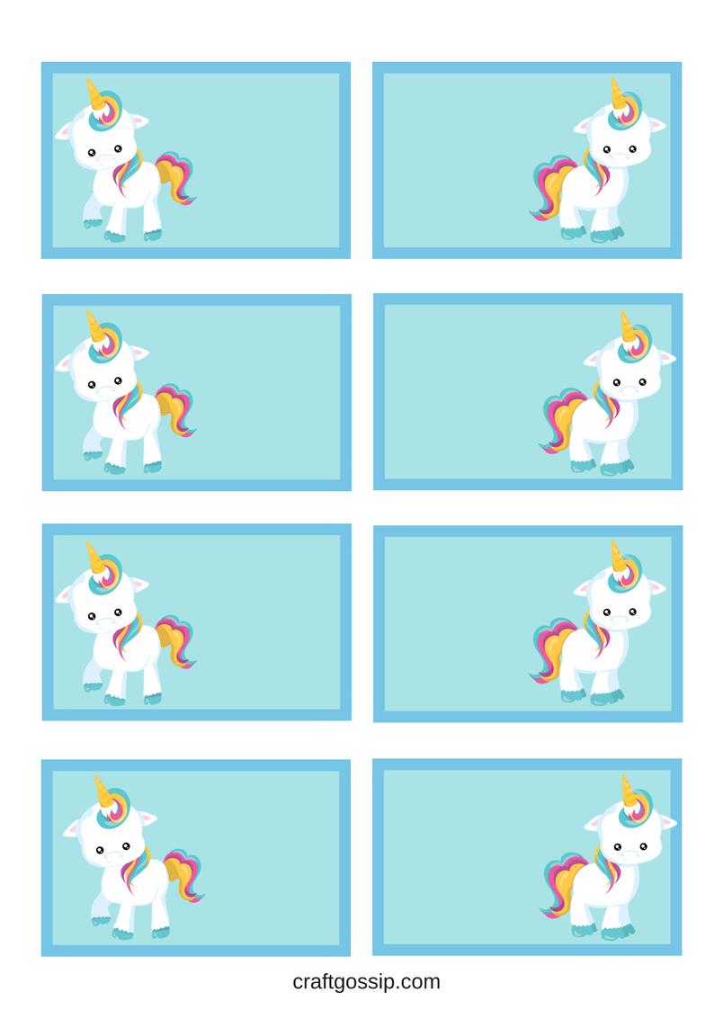 Free Printable Unicorn Party Gift Tag | Kids Gotta Play | Unicorn - Free Printable Gift Name Tags