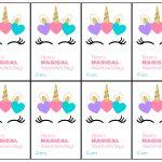 Free Printable Unicorn Valentine Cards   Paper Trail Design   Valentine Free Printable Cards
