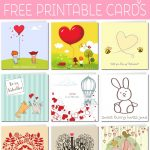 Free Printable Valentine Cards   Free Printable Valentines Day Cards For Her