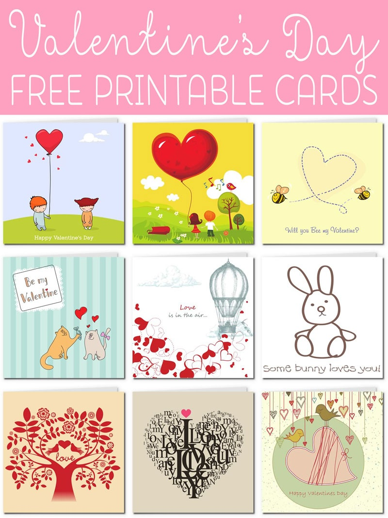 Free Printable Valentine Cards - Free Printable Valentines Day Cards For Her