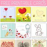 Free Printable Valentine Cards   Valentine Free Printable Cards