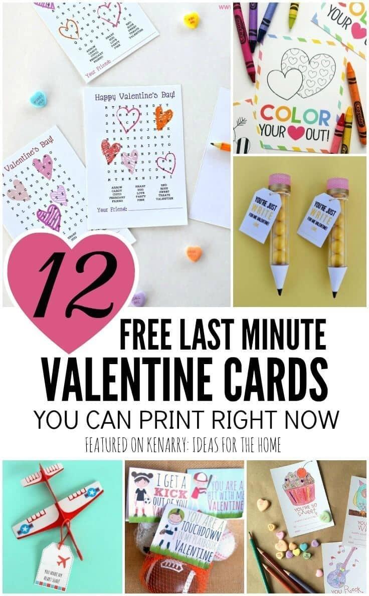 Free Printable Valentines: 12 Last Minute Cards You Can Print Now - Free Printable School Valentines Cards