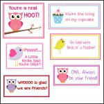 Free Printable Valentine's Cards (A Lot Of Them | Diy Owl Printabes   Free Printable Owl Valentine Cards