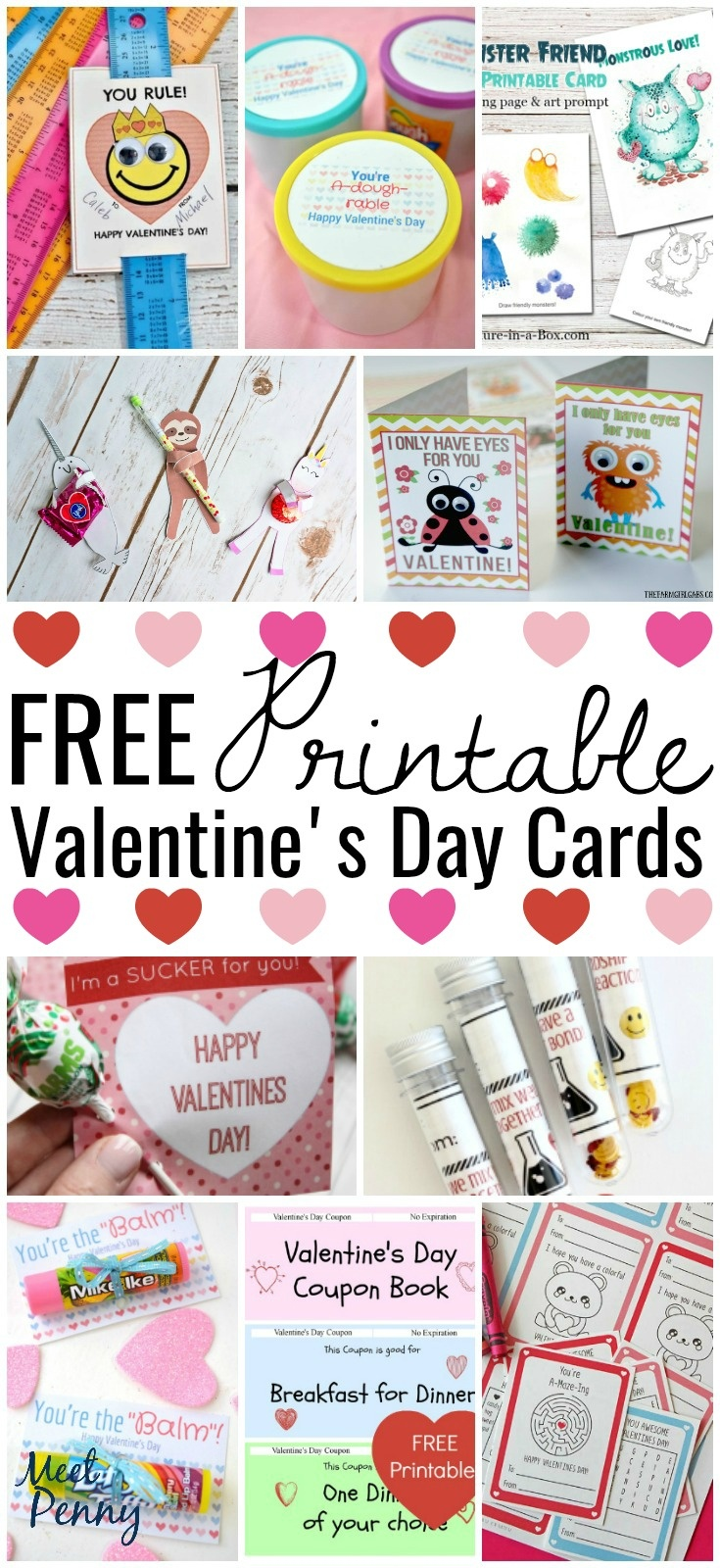 Free Printable Valentines Cards - Meet Penny - Free Printable School Valentines Cards