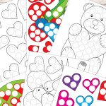 Free Printable Valentines Day Do A Dot Worksheets | Must Do Crafts   Free Printable Crafts For Preschoolers