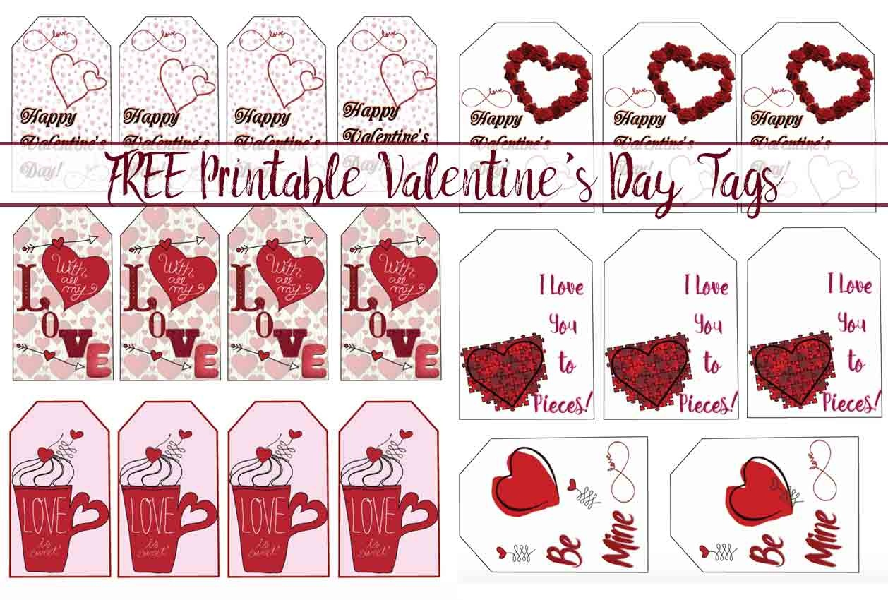 Free Printable Valentine's Day Gift Tags: Multiple Designs & Sizes - Free Printable Heart Designs
