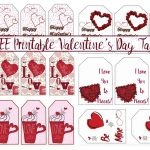 Free Printable Valentine's Day Gift Tags: Multiple Designs & Sizes   Free Printable Valentine Tags