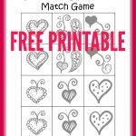 Free Printable Valentine's Day Heart Matching Game   Free Printable Valentine Games For Adults