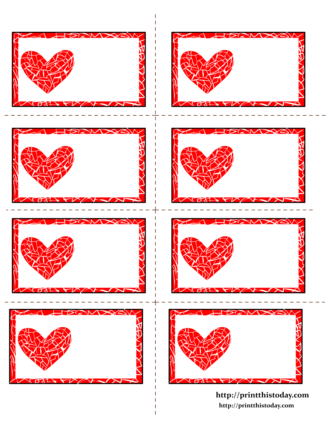 Free Printable Valentines Day Labelsann   Sunday School - Free Printable Heart Labels