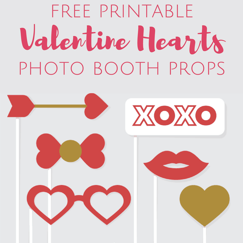 Free Printable Valentine's Day Photo Booth Props - Free Printable Photo Booth Props Template