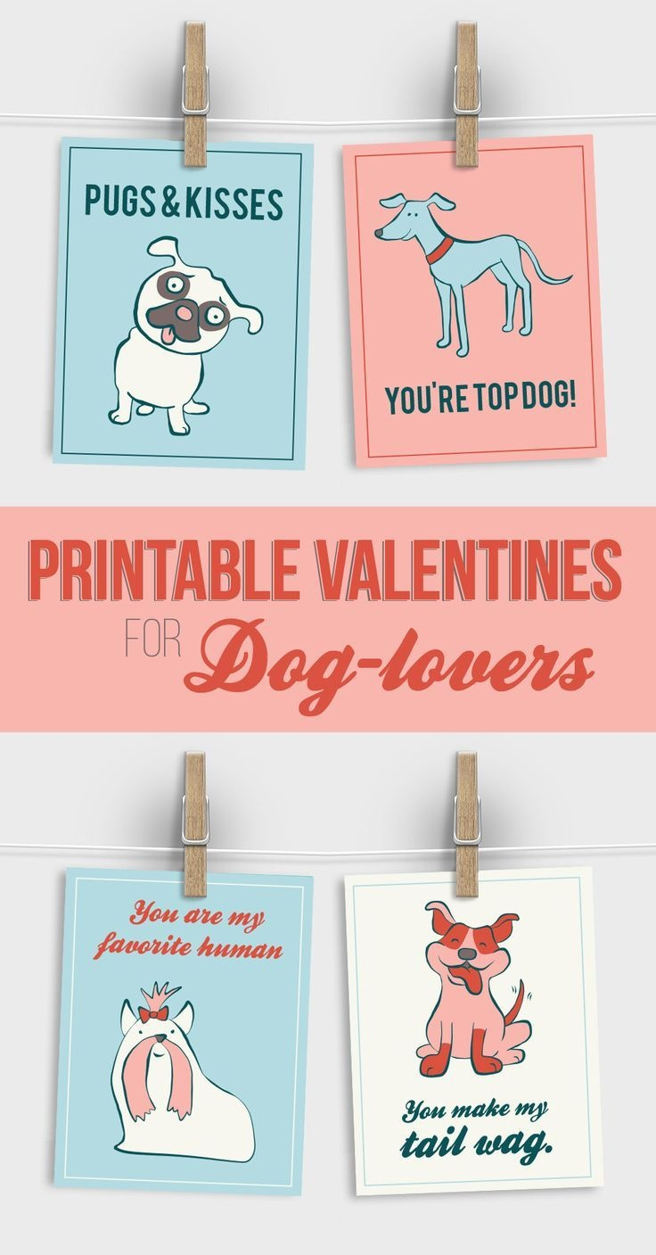 Free Printable Valentines For Dog Lovers   Valentine's Day - Free Printable Cat Valentine Cards