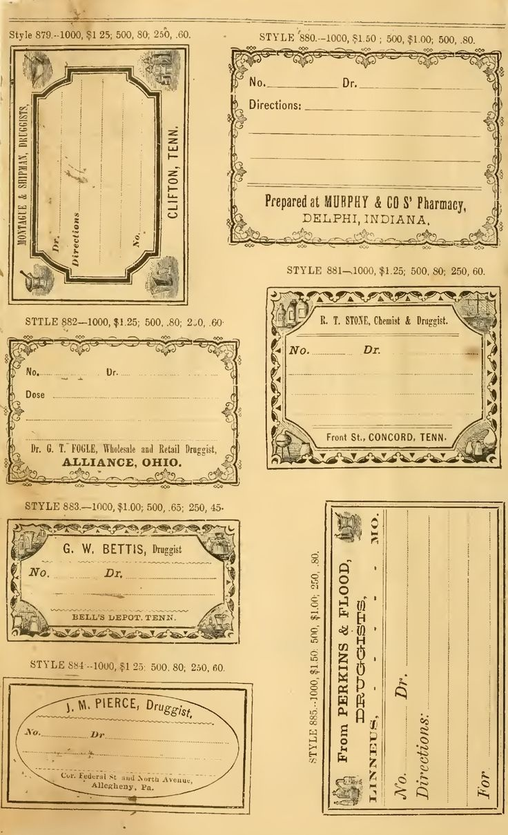 Free Printable Vintage Pharmacy & Apothecary Labels   The - Free Printable Old Fashioned Labels