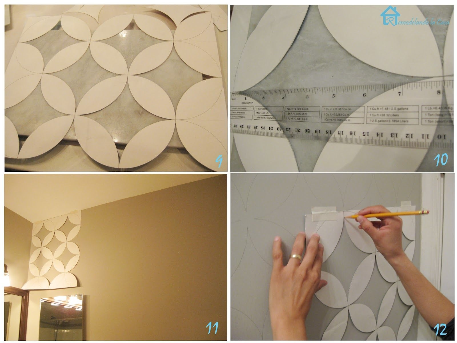 Free Printable Wall Stencils   With The Cut Out Pieces It Was Easier - Free Printable Wall Stencils For Painting