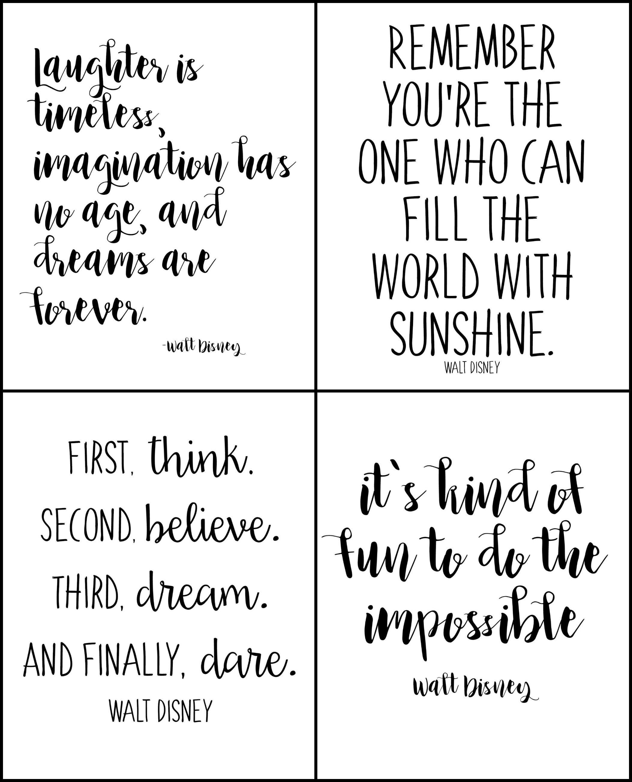 Free Printable Walt Disney Quotes | Disney | Walt Disney Quotes - Free Printable Quotes
