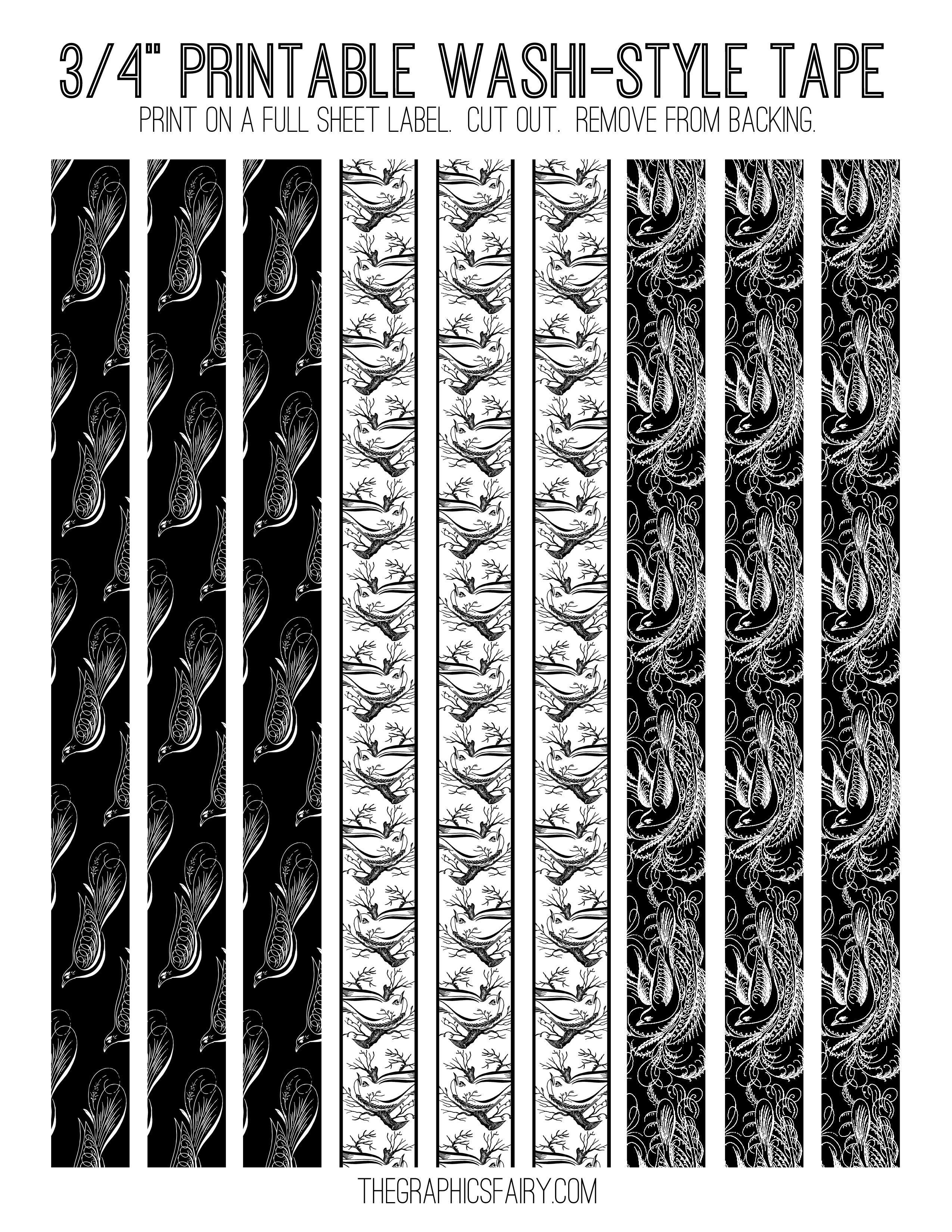 Free Printable Washi Tape! | Bullet Journal | Washi Tape Planner - Free Printable Washi Tape