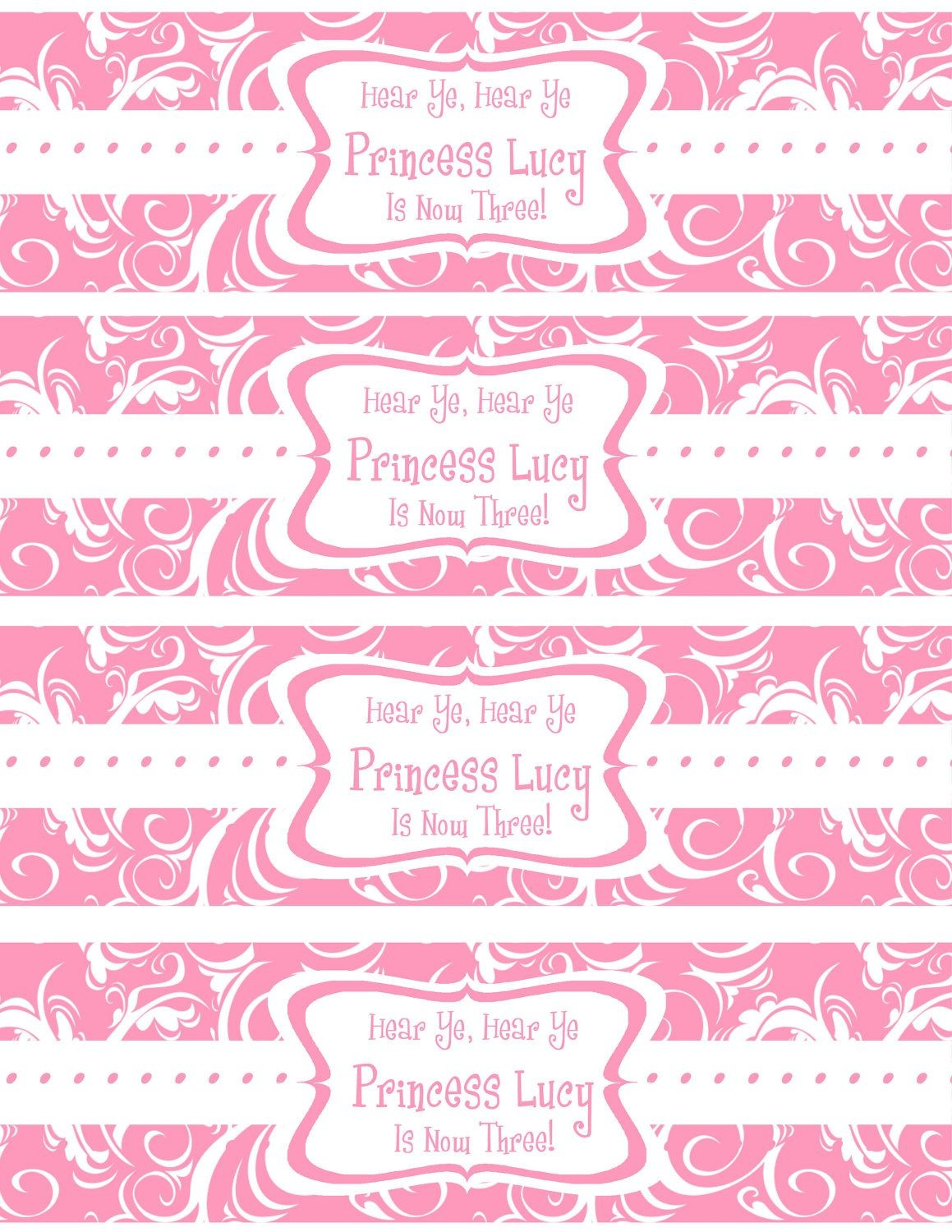 Free Printable Water Bottle Labels Template | Kreatief | Printable - Free Printable Sweet 16 Labels