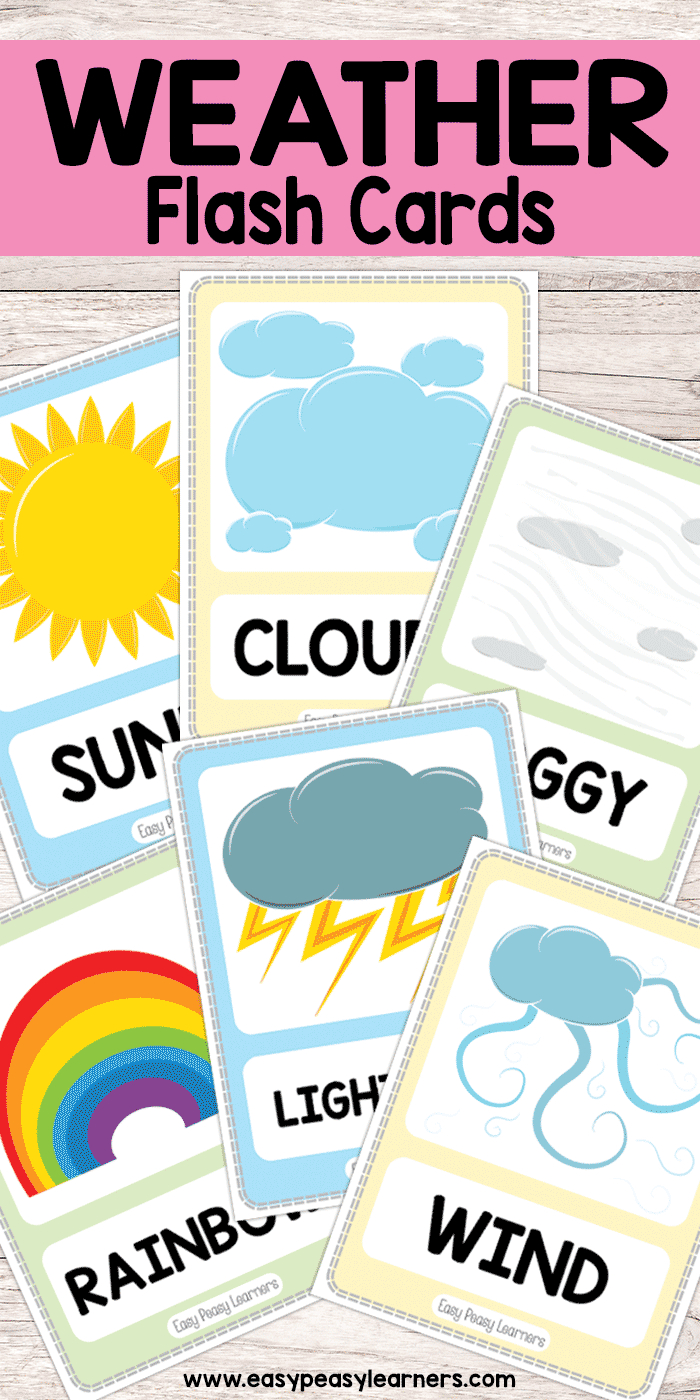 Free Printable Weather Flash Cards | Must Do Crafts And Activities - Free Printable Weather Chart For Preschool