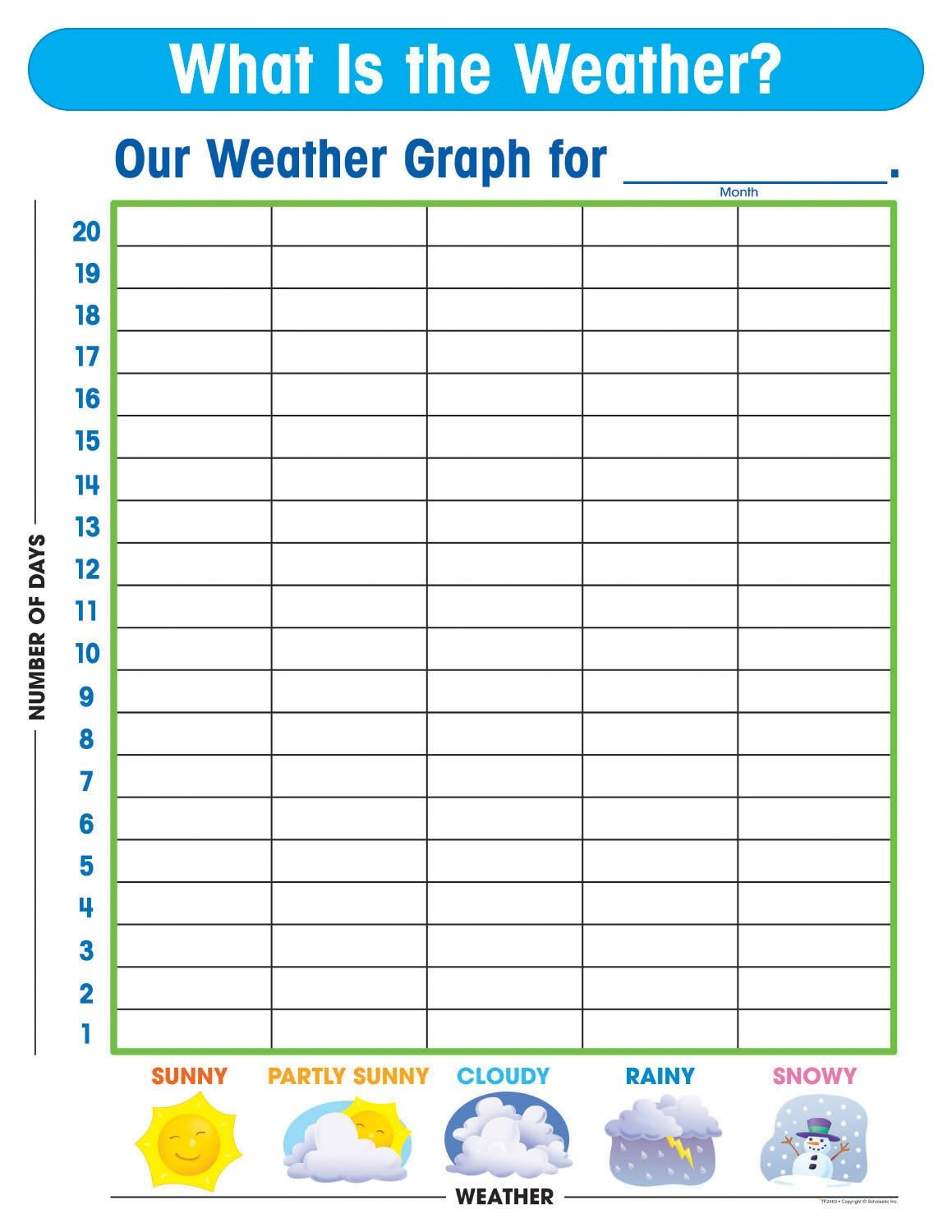Free Printable Weather Graphs For Kindergarten - Free Printable Birthday Graph