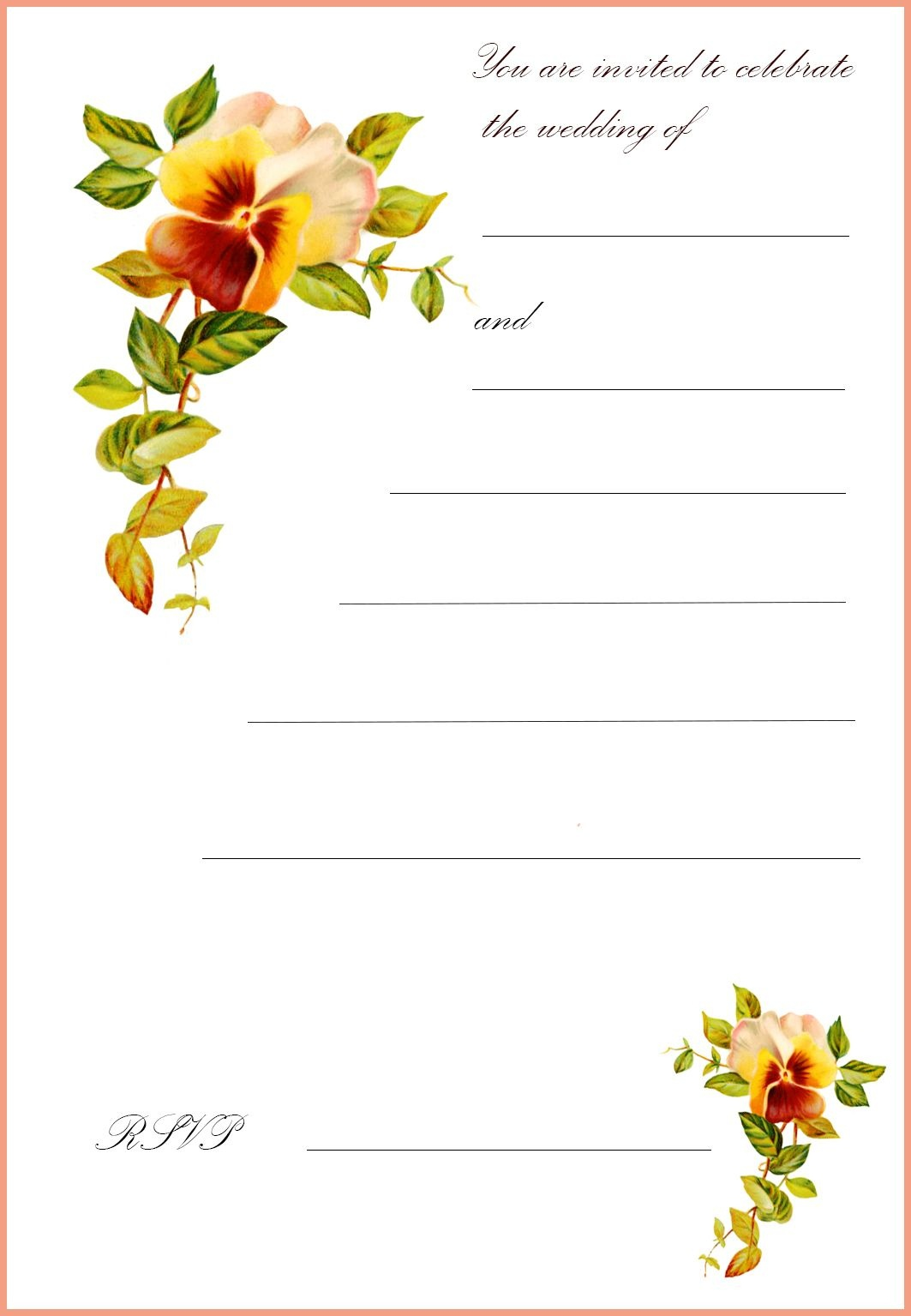 Free Printable Wedding Clip Art | Go To The Top Of This Page Free - Free Printable Wedding Invitations With Photo