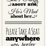 Free Printable Wedding Download: Pick A Seat Sign | Dream Come True   Free Printable Wedding Signs