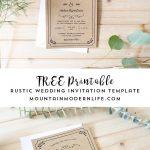 Free Printable Wedding Invitation Template     Freebies     Free   Free Printable Wedding Invitations