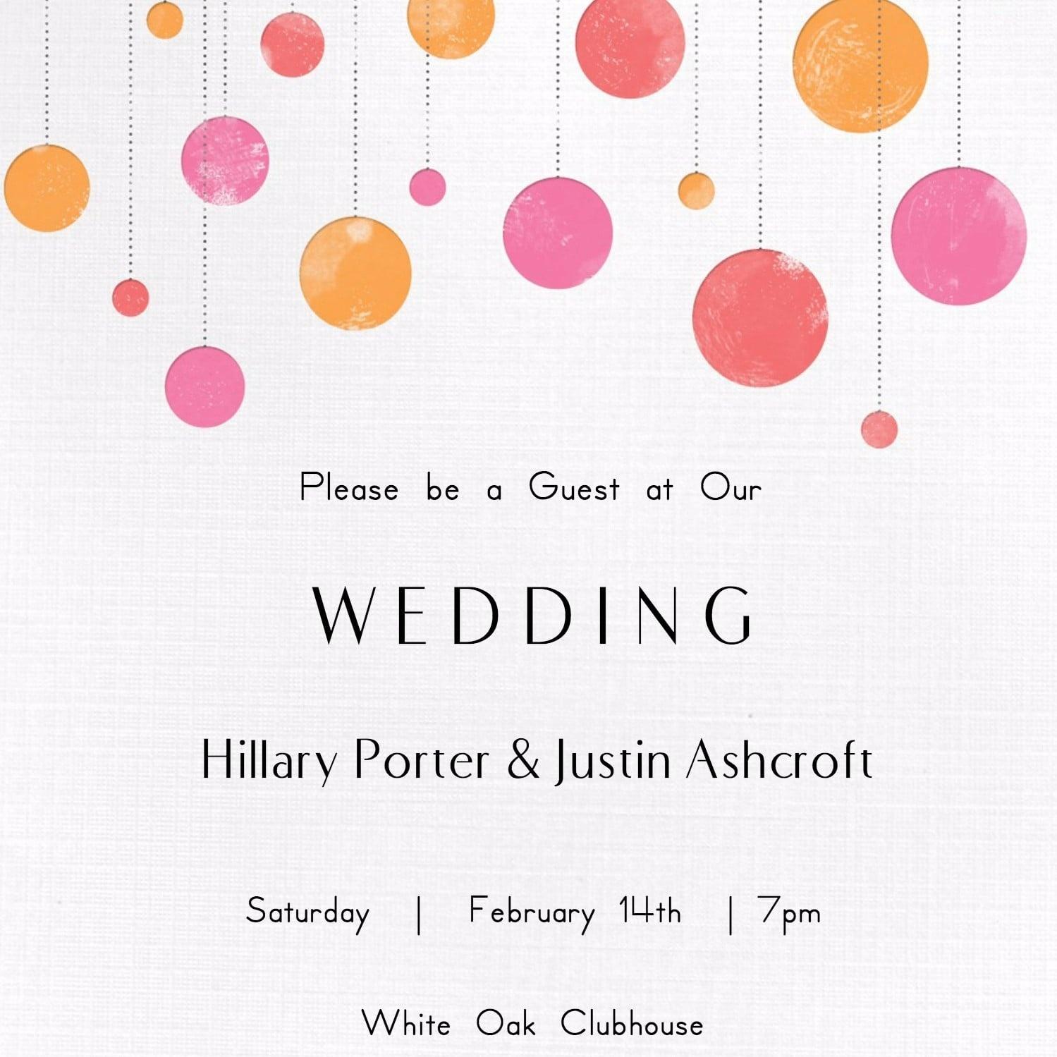 Free Printable Wedding Invitations | Popsugar Smart Living - Free Printable Wedding Cards