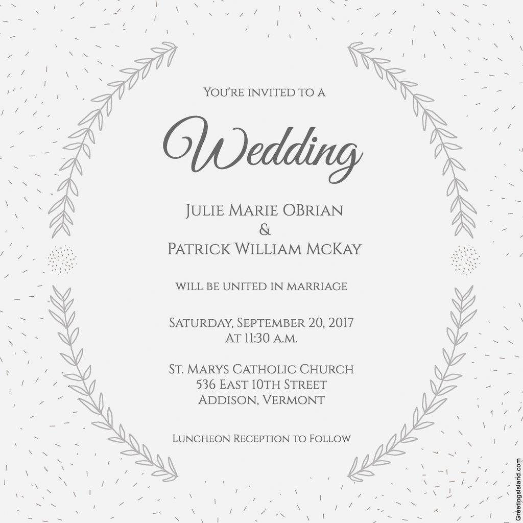 Free Printable Wedding Invitations | Popsugar Smart Living In - Free Printable Wedding Cards