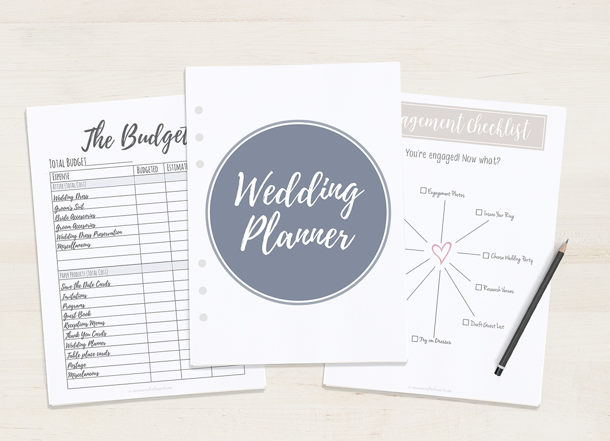 Free Printable Wedding Planner - A5 & Letter - Free Printable Wedding Binder Templates