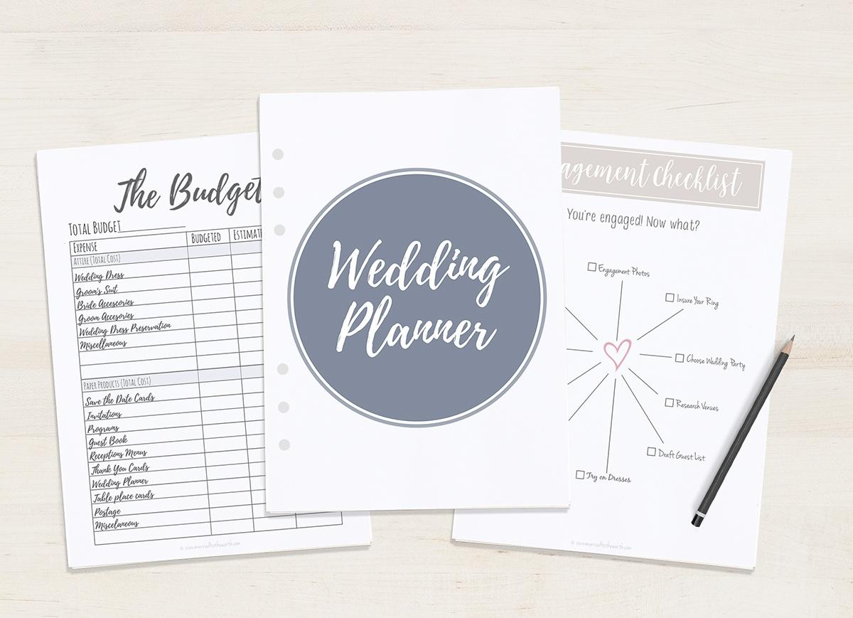 Free Printable Wedding Planner - A5 & Letter - Free Printable Wedding Organizer Templates