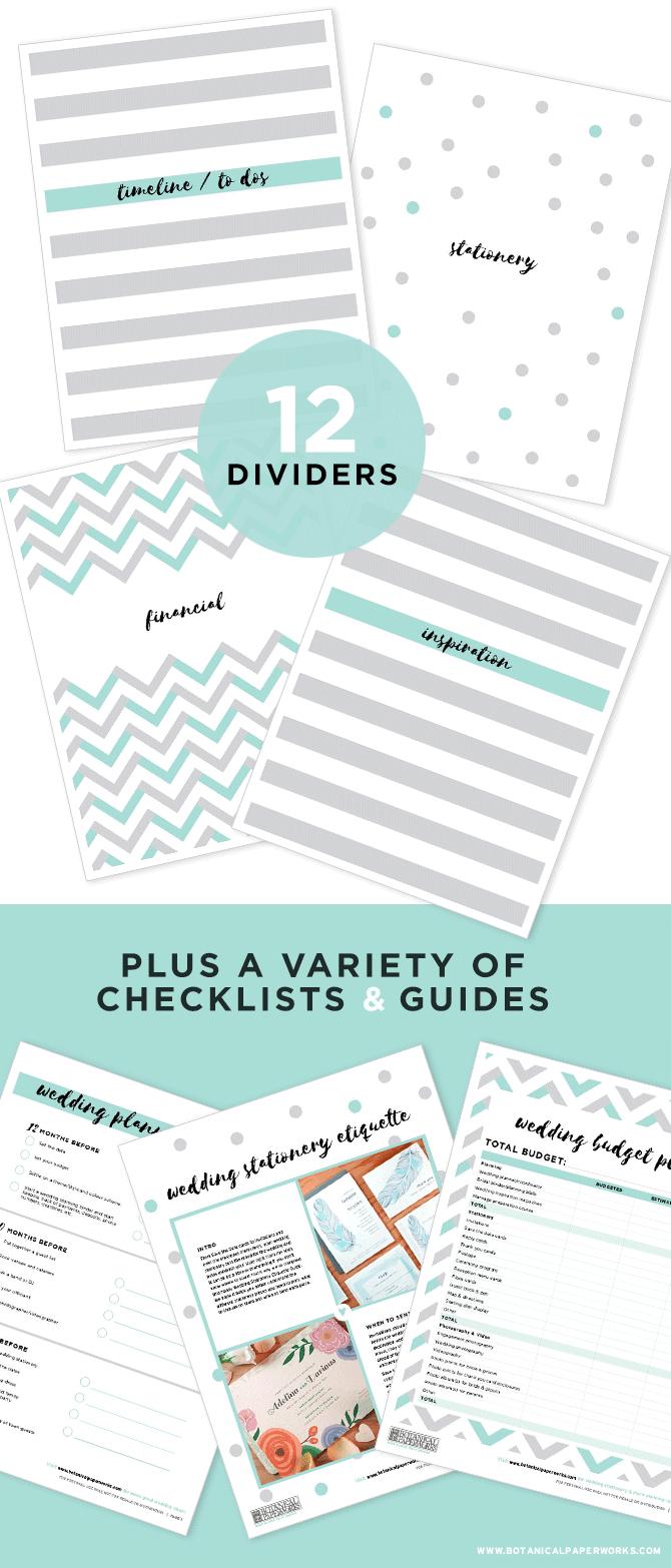 Free Printable Wedding Planning Binder   Blog   Botanical Paperworks - Free Printable Wedding Organizer Templates