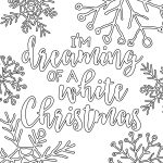 Free Printable White Christmas Adult Coloring Pages | Coloring Pages   Free Printable Christmas Coloring Pages