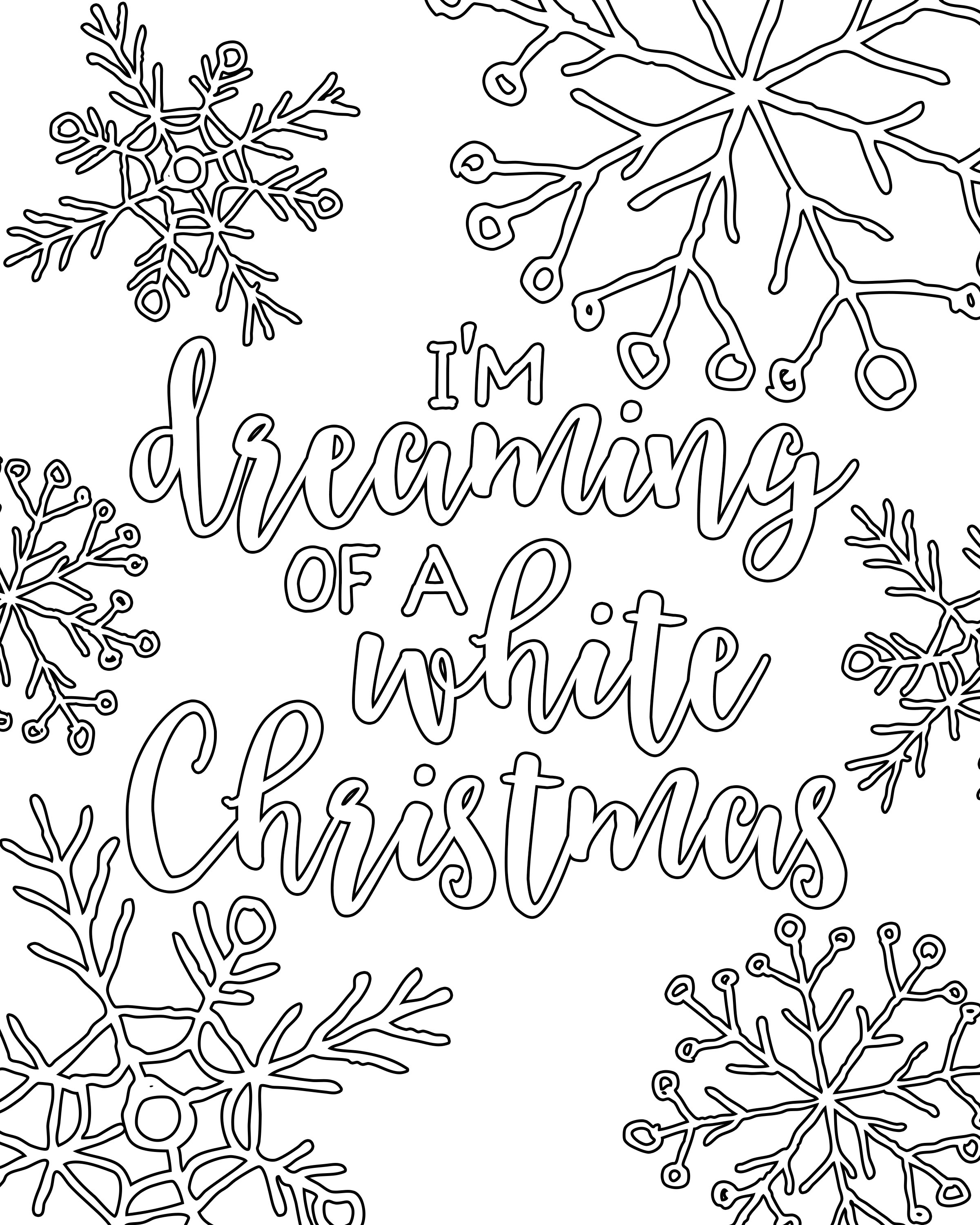 Free Printable White Christmas Adult Coloring Pages   Coloring Pages - Free Printable Christmas Coloring Pages