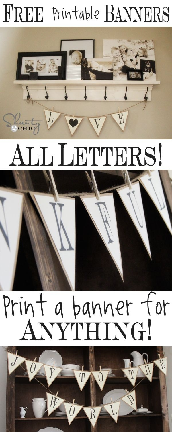 Free Printable Whole Alphabet Banner | Party And Holiday Decorations - Free Printable Welcome Banner Template