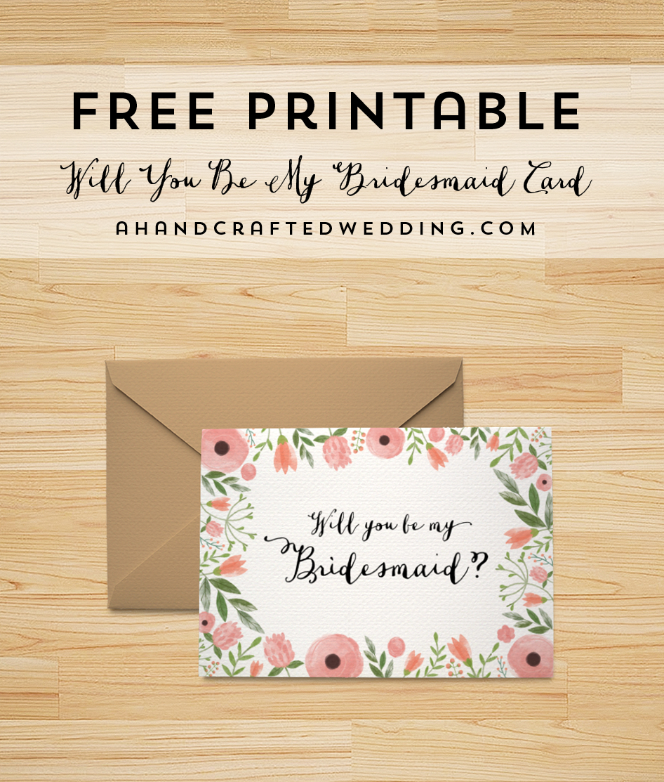 Free Printable Will You Be My Bridesmaid Card | | Freebies | | Be My - Will You Be My Bridesmaid Free Printable