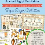 Free Printables Ancient Egypt Homeschool Resources | Ready To Learn   Free Printable Timeline Figures