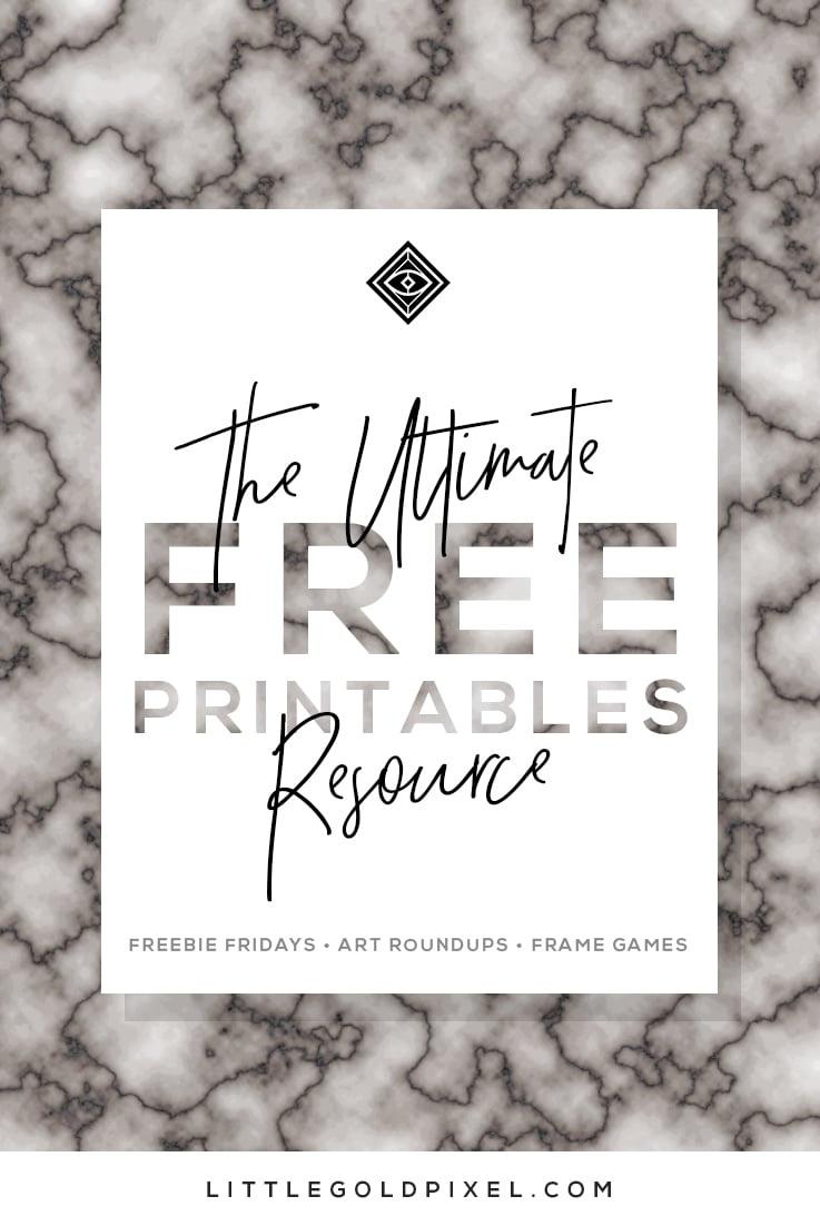 Free Printables • Free Wall Art Roundups • Little Gold Pixel - Free Coffee Printable Art