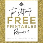 Free Printables • Free Wall Art Roundups • Little Gold Pixel   Free Printable Decor