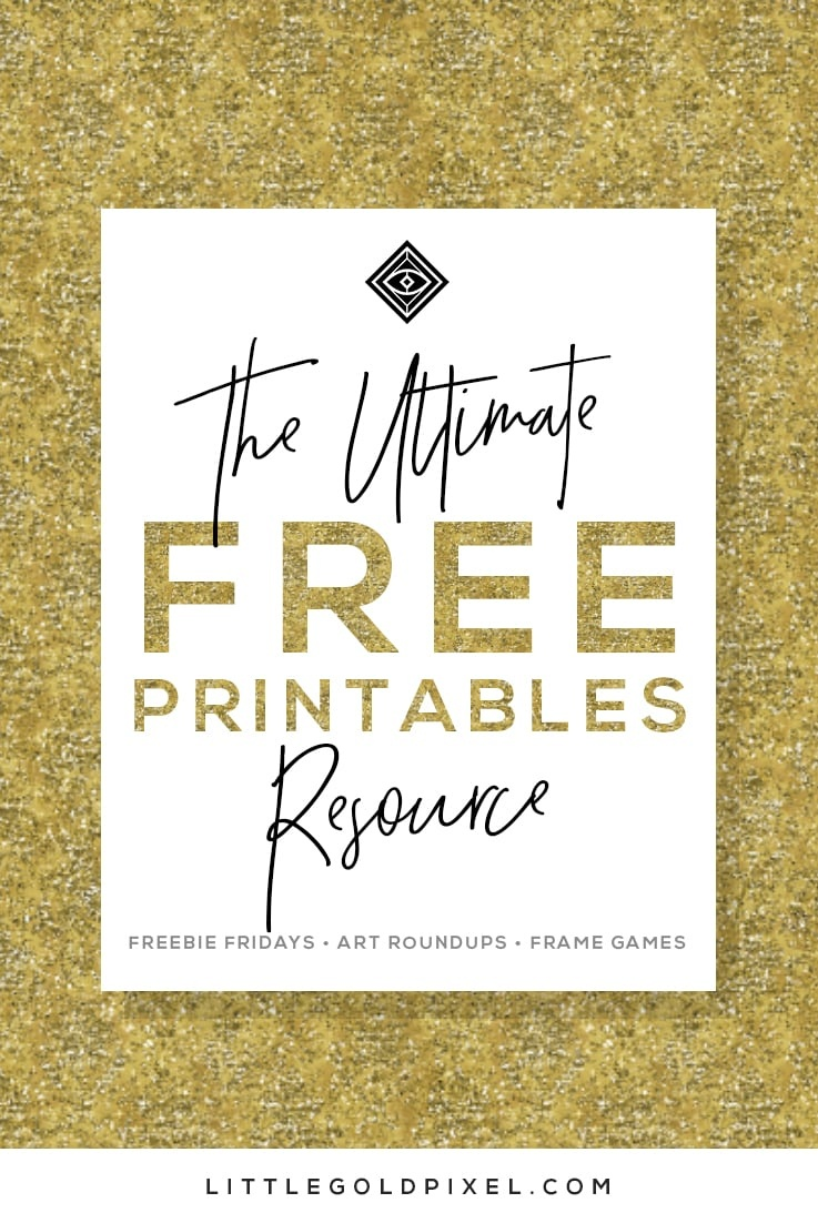 Free Printables • Free Wall Art Roundups • Little Gold Pixel - Free Printable Wall Art Decor