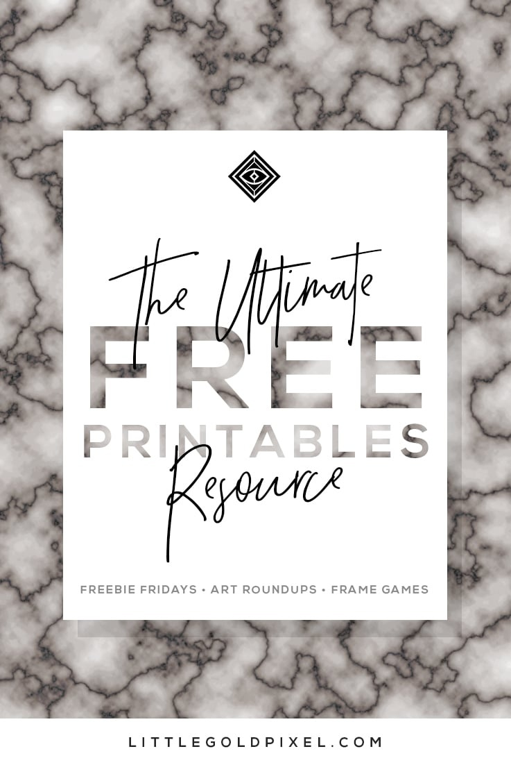 Free Printables • Free Wall Art Roundups • Little Gold Pixel - Free Printable Wall Art For Bathroom