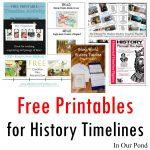 Free Printables For History Timelines   Free Printable Timeline Figures