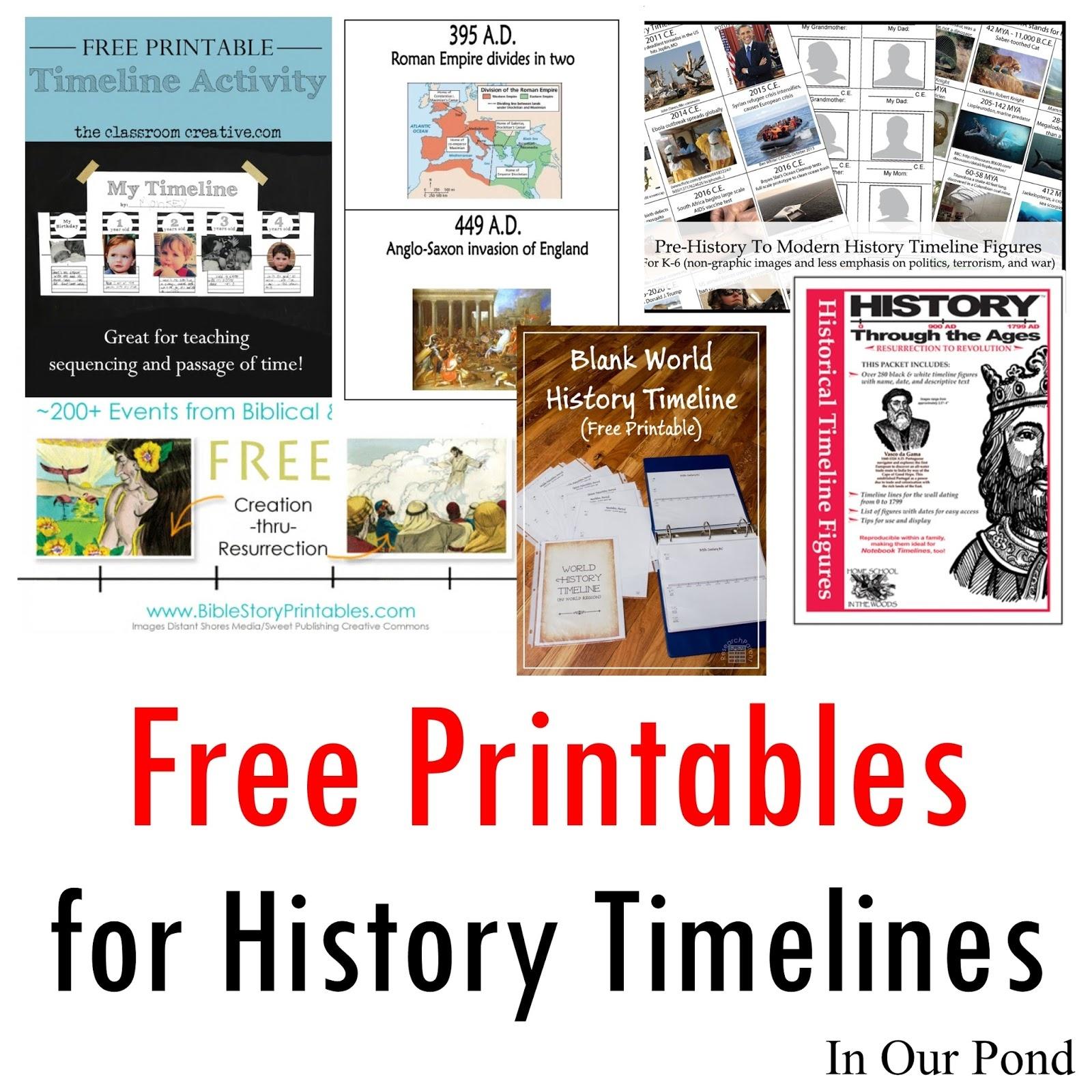Free Printables For History Timelines - Free Printable Timeline Figures