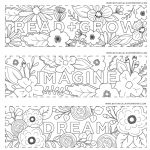 Free Printables} Read + Grow Coloring Bookmarks For Back To School   Free Printable Back To School Bookmarks