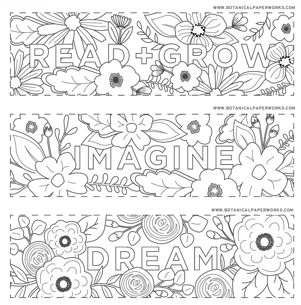 Free Printables} Read + Grow Coloring Bookmarks For Back-To-School - Free Printable Bookmarks To Color